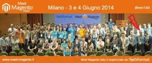 Foto di gruppo, Meet Magento 2014 ... segui la freccia